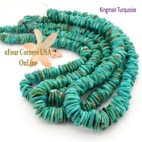 13mm Graduated FreeForm Slice Kingman Turquoise Beads Designer 16 Inch Strand Jewelry Making Supplies GFF44 Four Corners USA OnLine