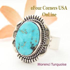 Size 12 Morenci Turquoise Ring Navajo Artisan John Nelson NAR-1871 Four Corners USA OnLine Native American Jewelry