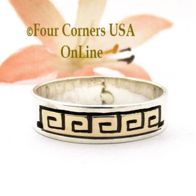 Size 10 1/2 14K Gold Sterling Spiral Band Ring Navajo Peggy Skeets NAR-1880 Four Corners USA OnLine Native American Jewelry