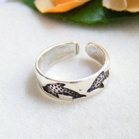 Dolphin Sterling Silver Adjustable Toe Ring