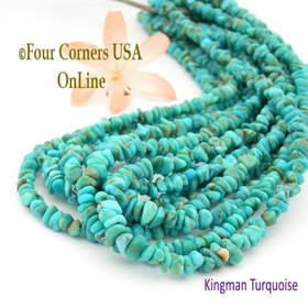 4mm Blue Teal Kingman Turquoise Nugget Bead Strands Group 1 Four Corners USA OnLine Jewelry Making Supplies