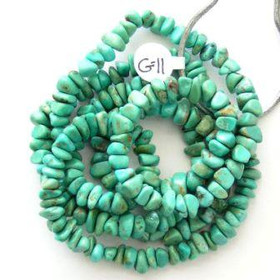 Arizona Kingman American Turquoise 6-7mm Green Blue Nugget Bead Strands Group 11 (KNG-G11)
