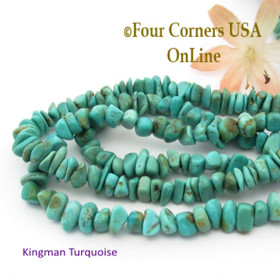 Arizona Kingman American Turquoise 6-7mm Green Blue Nugget Bead Strands Group 9 Four Corners USA OnLine Jewelry Making Beading Supplies