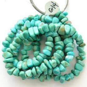 Arizona Kingman American Turquoise 7mm Blue Green Nugget Bead Strands Group 14 (KNG-G14)