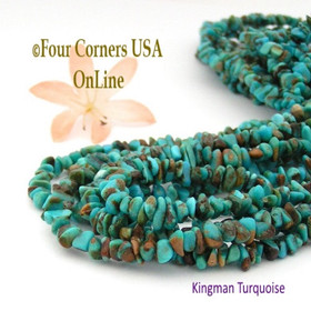 4-5mm Arizona Kingman Boulder Turquoise Nugget Beads 16 Inch Strands Four Corners USA Online Jewelry Making Supplies