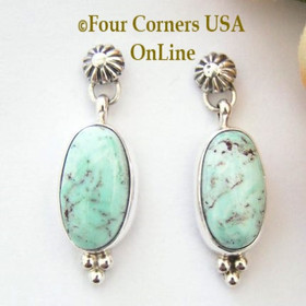 Dry Creek Turquoise Post Earrings Navajo Silver Jewelry Bonnie Sandoval Four Corners USA OnLine Native American Jewelry NAER-13012
