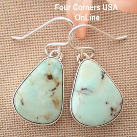 Dry Creek Turquoise Sterling Earrings Navajo Artisan Benson Shorty Four Corners USA OnLine Native American Jewelry NAER-1436