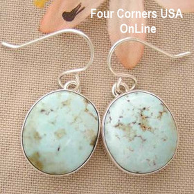 Dry Creek Turquoise Sterling Earrings Navajo Artisan Benson Shorty Four Corners USA OnLine Native American Jewelry NAER-1437