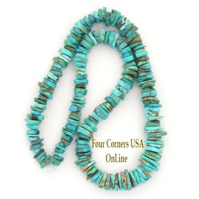 Graduated FreeForm Slice Kingman Turquoise Beads Designer 16 Inch Strand Four Corners USA OnLine Jewelry Making Supplies GFF03