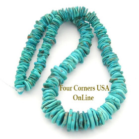 Graduated FreeForm Slice Kingman Turquoise Beads Designer 16 Inch Strand Four Corners USA OnLine Jewelry Making Supplies GFF07