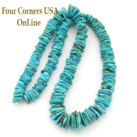 Graduated FreeForm Slice Kingman Turquoise Beads Designer 16 Inch Strand Four Corners USA OnLine Jewelry Making Supplies GFF08