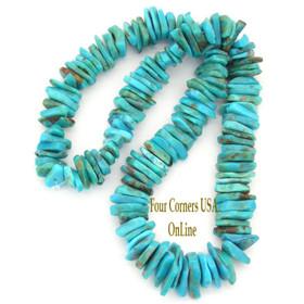 Graduated FreeForm Slice Kingman Turquoise Beads Designer 16 Inch Strand Four Corners USA OnLine Jewelry Making Supplies GFF15