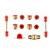 1958-1964 Chevrolet Full Size Red Polyurethane Front End Suspension Bushing Set