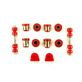 1968-1974 Chevrolet Corvette Red Polyurethane Front End Suspension Bushing Set