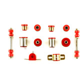 1964 1965 Chevrolet Chevelle Red Polyurethane Front End Suspension Bushing Set