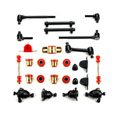 1958 1959 1960 Chevrolet Full Size Red Polyurethane Complete Front End Suspension Master Rebuild Kit