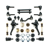 1964 1965 1966 Plymouth Barracuda Black Polyurethane Complete Front End Suspension Master Rebuild Kit with Drum Brakes