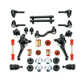 1968 1969 Plymouth Barracuda Red Polyurethane Complete Front End Suspension Master Rebuild Kit with Drum Brakes