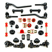 1962 1963 1964 1965 1966 1967 Chevrolet Chevy II Nova Red Polyurethane Complete Front End Suspension Master Rebuild Kit with Idler Arm Repair Kit