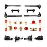 1970 Chevrolet Chevelle Red Polyurethane Front End Suspension Rebuild Kit with Oval Bushings