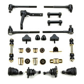 1966 1967 Chevrolet Chevelle Black Polyurethane Complete Front End Suspension Master Rebuild Kit