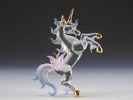Spun Glass Unicorn with Butterfly