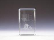 Iwo Jima memorial laser glass