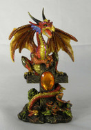 Golden dragon on cross