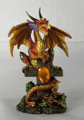 Golden dragon on cross