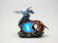 Blue and burgundy dragons with LED light