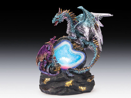 Dragons and geode with LED light ESR-57