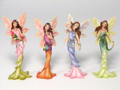 Four assorted fairies