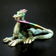 Pewter Dragon Blue and Purple