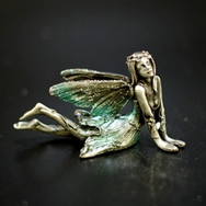 Pewter Sitting Fairy