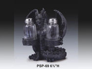 Black Dragon Salt and Pepper Shaker Holder