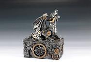 Silver Steampunk Dragon Box