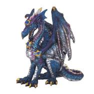 Small Blue and silver Metallic Dragon