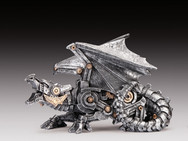 Large Silver Streampunk Dragon