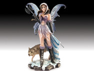 Warrior Fairy with Wolf