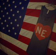 Love NE (women's tank) gray