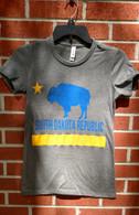 Super soft, Bella Canvas poly/cotton shirt.  The best.