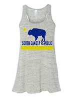 South Dakota Republic Women's tank (blue/yellow)