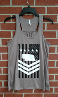 Militant Nebraskan women's tank brown