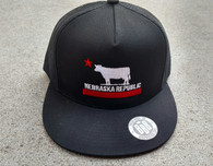 Nebraska Republic flatbill full black/red/white