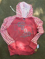 Good Life Outline Women's Stripe Hoodie