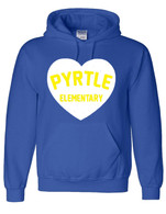 Pyrtle Heart adult hoodie