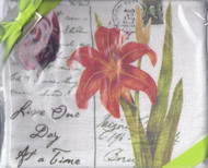 Dish Towel- Daylily Set of 2