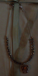 Necklace- Bronze Metal w/ Yellow Stone. there are also matching earrings for sale - see Earrings Section