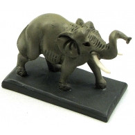 Elephant with Tusks Figurine