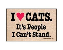 I Love Cats... Door Mat